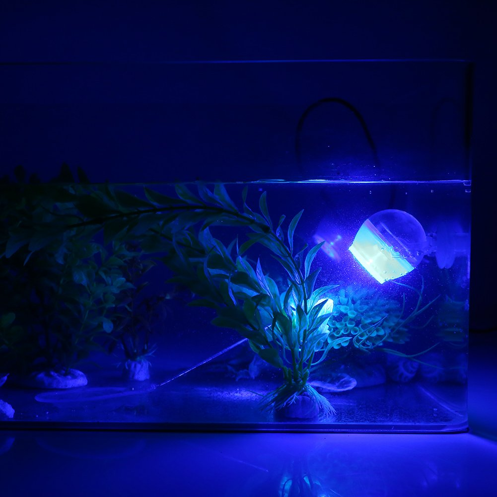 Mini LED Multicolor Agua Densidad Acuario Buceo Luz Acuario iluminaci/ón decoraci/ón l/ámpara ajustable luces de 7/colores Filfeel LED Acuario Luz