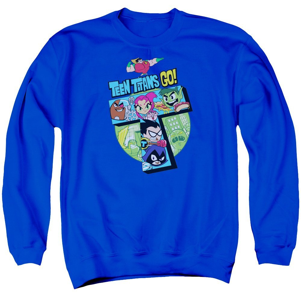 T Adult Crewneck Sweatshirt Teen Titans Go