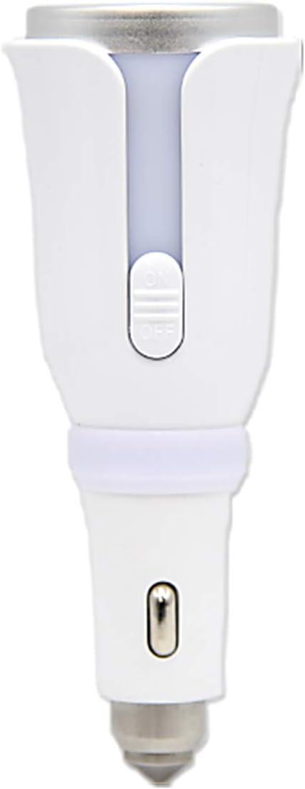 カー アロマディフューザー シガーソケット USB対応 フレグランスシート 付き 車用 芳香器 アロマポット アロマ アロマセラピー 自宅作業 オフィス (パールホワイト)