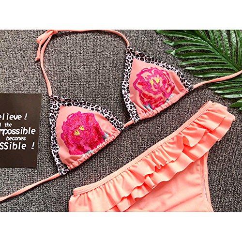 Costumi Costume E Spiaggia Donna Tankini Due Bagno Da Sexy Bagnarsi naranja Top Suit Pezzo Swimsuit Kootk S Rosa Nuoto Bikini Slip Impostato vawfqxPxY