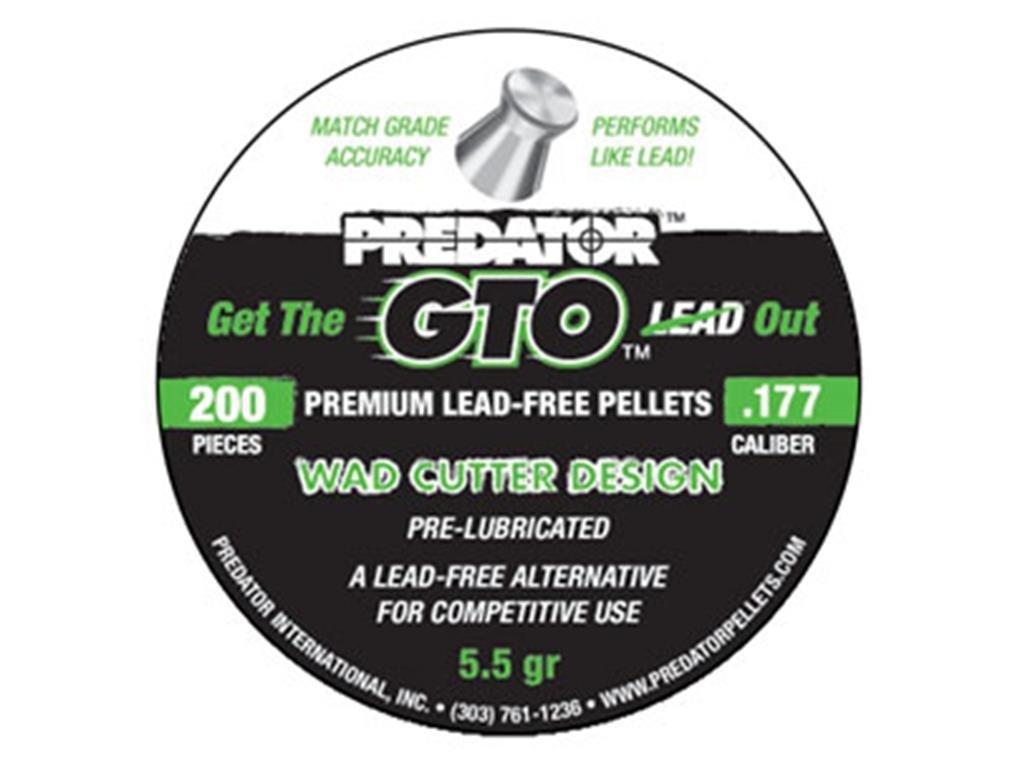 Predator GTO .177 Cal, 5.5 Grains, Wadcutter, Lead-Free, 200ct