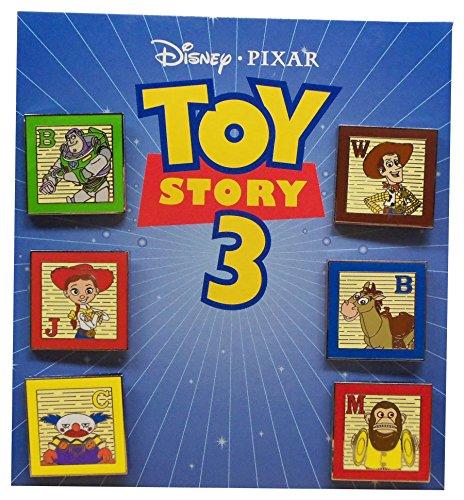 (Disney Pixar Toy Story 3 Collector Pin Set Buzz Woody Jessie Bullseye Chuckles Monkey)