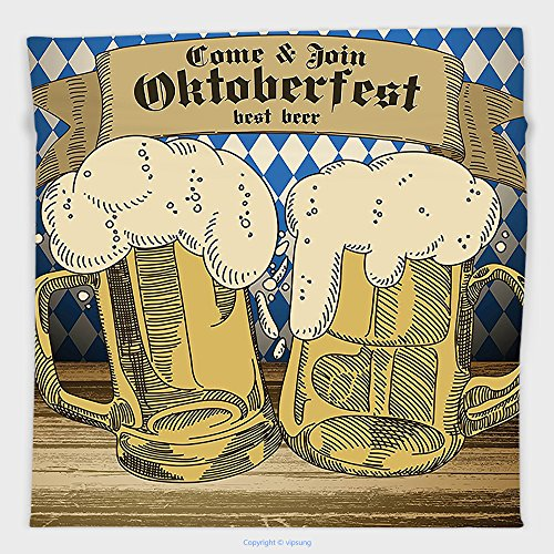 [Vipsung Microfiber Ultra Soft Hand Towel-Oktoberfest Decorations Collection Oktoberfest Design Famous Costume Tourist Attraction Travel Destination Blue Beige For Hotel Spa Beach Pool Bath] (Asian Tourist Costume)