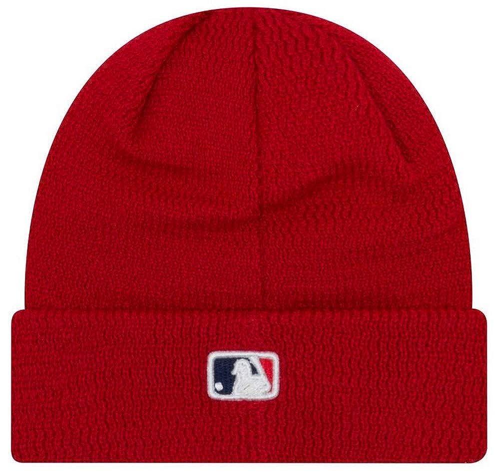 41b75a0689b Amazon.com  New Era MLB Philadelphia Phillies Sport Stocking Knit Hat Beanie  Cuff Skull Cap Red  Clothing