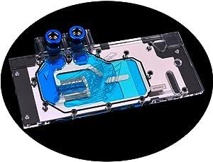 GPU Copper Waterblock G1/4 Full Cover Watercooling PC Liquid Cooling GPU Watercooling Block for Graphic Cards Gigabyte GTX 1080 1070 1060 GV-N1080 GV-N1070 5V RGB RBW LED (Without Back Plate)