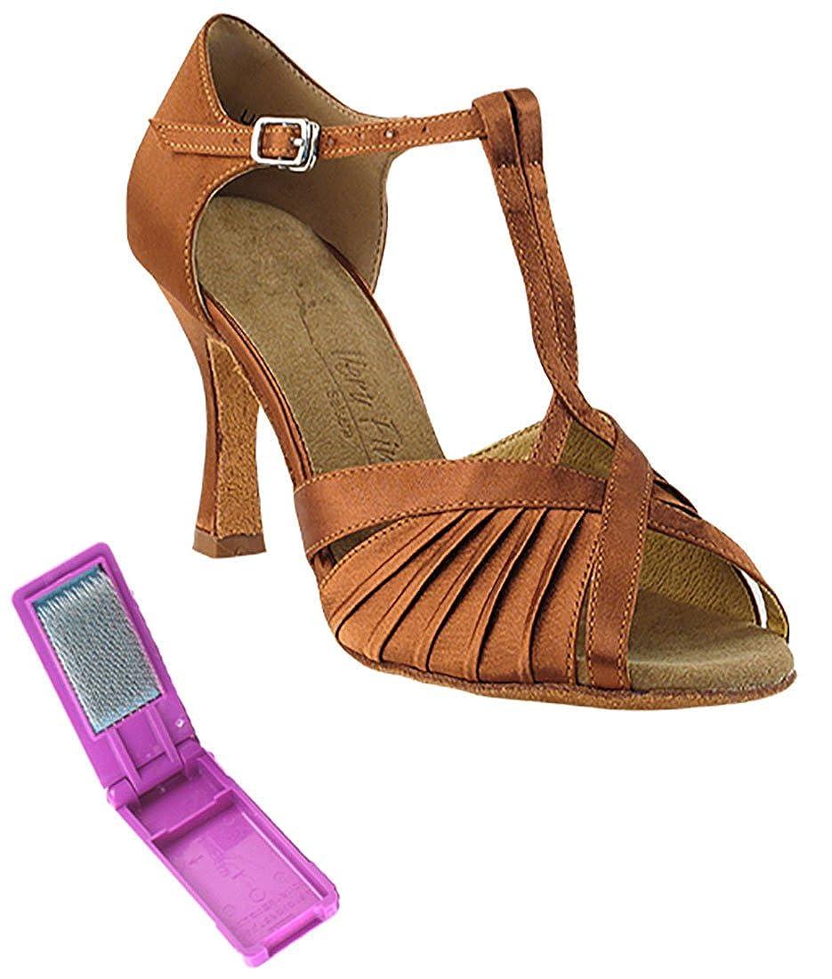[Very Fine Dance Shoes] レディース B071WDRHZG ダークタンサテン 5 B(M) US