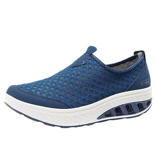 Logobeing Zapatos de Mujer Zapatos Comodos Mujer Deportivos Mujer Casuales de Malla Al Aire Libre Zapatillas