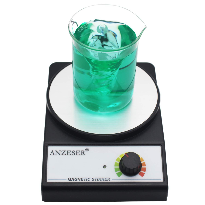 ANZESER Magnetic Stirrer Magnetic Mixer 3000 RPM with Stir Bar Max Stirring Capacity 3000mL, Black