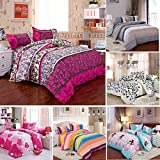 wiwanshop 3 Or 4pcs Cotton Blend Mix Patterns Paint Printing Bedding Sets Twin Full Queen ( Full Size )
