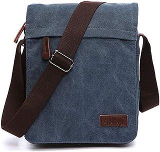 BG&MF Herren Canvas Umhängetasche Tasche Vintage Canvas Handtasche Schultertasche Ideal für Büro Arbeit Uni Reise Sport Schule