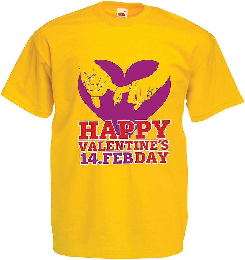 lepni.me Camisetas Hombre ¡Feliz día de San Valentín Corazones! 14 de febrero Impresionante Regalo de Amor de San Valentín