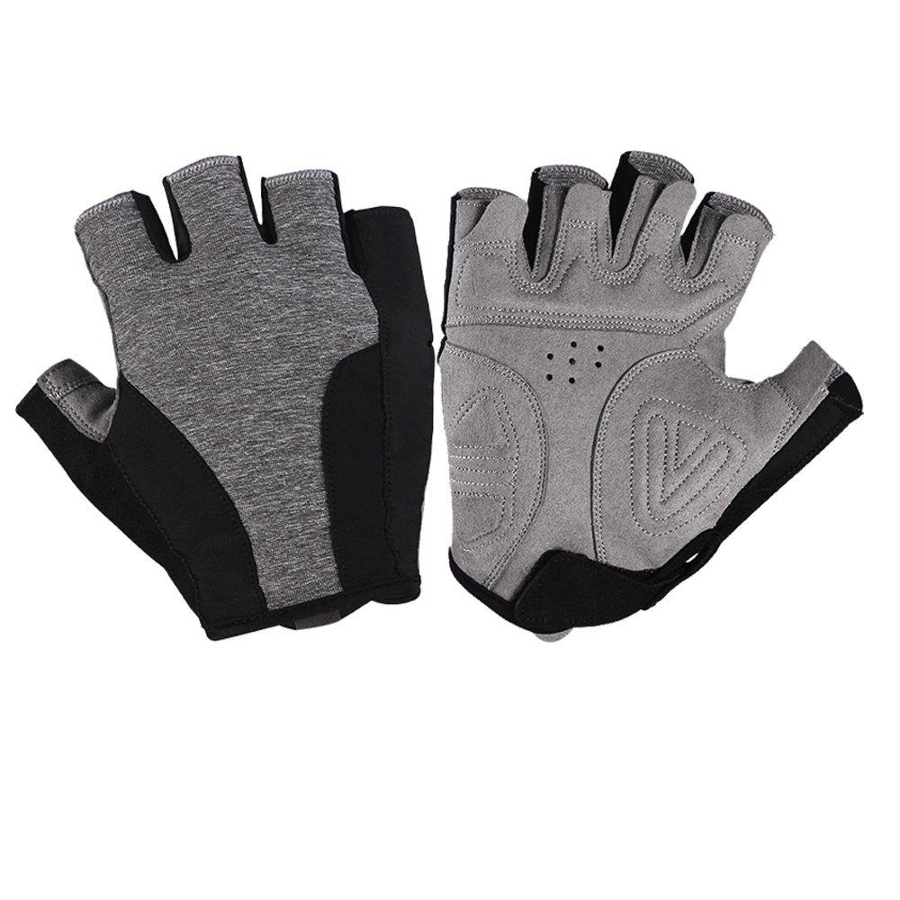 LBYMYB Outdoor-Ausrüstung Für Männer Und Frauen, Die Stoßabsorbierende Anti-Rutsch-Kurzfingerhandschuhe, Grau-schwarz Reiten Handschuh