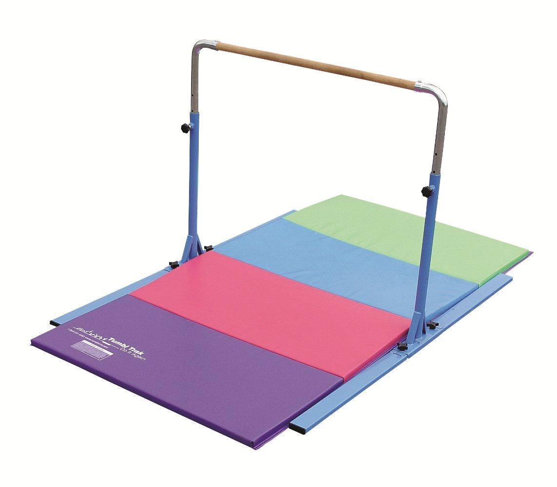 Amazon Tumbl Trak Jr Bar PRO Adjustable Gymnastics Training Blue Equipment Sports Outdoors
