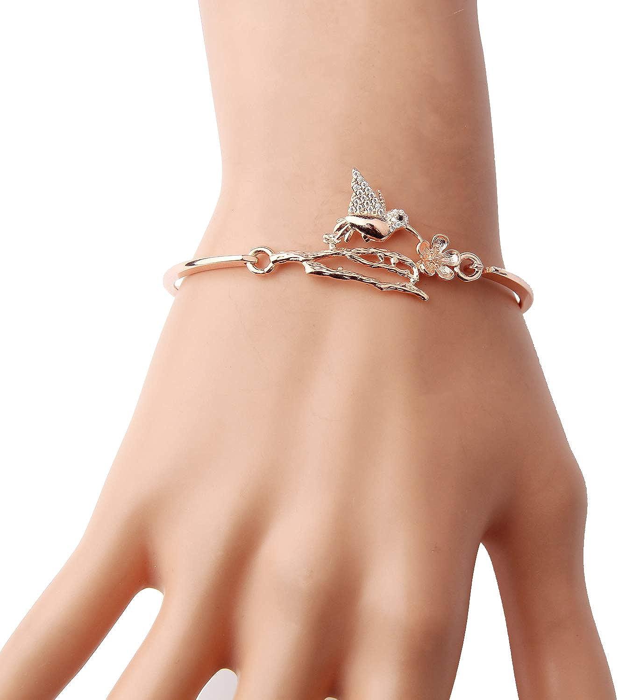 Sterling Silver Bracelet For Women Silver Bird Bracelet Bird Bracelet Hummingbird Bracelet Hummingbird Jewelry Gold Bracelet 927