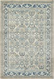 Luxury Vintage Persian Design Meshkabad Rug Beige 6′ x 9′ St.George Collection Area Rugs