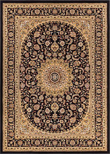 (Well Woven 36436 Timeless Aviva Traditional French Country Oriental Black Area Rug 6'7