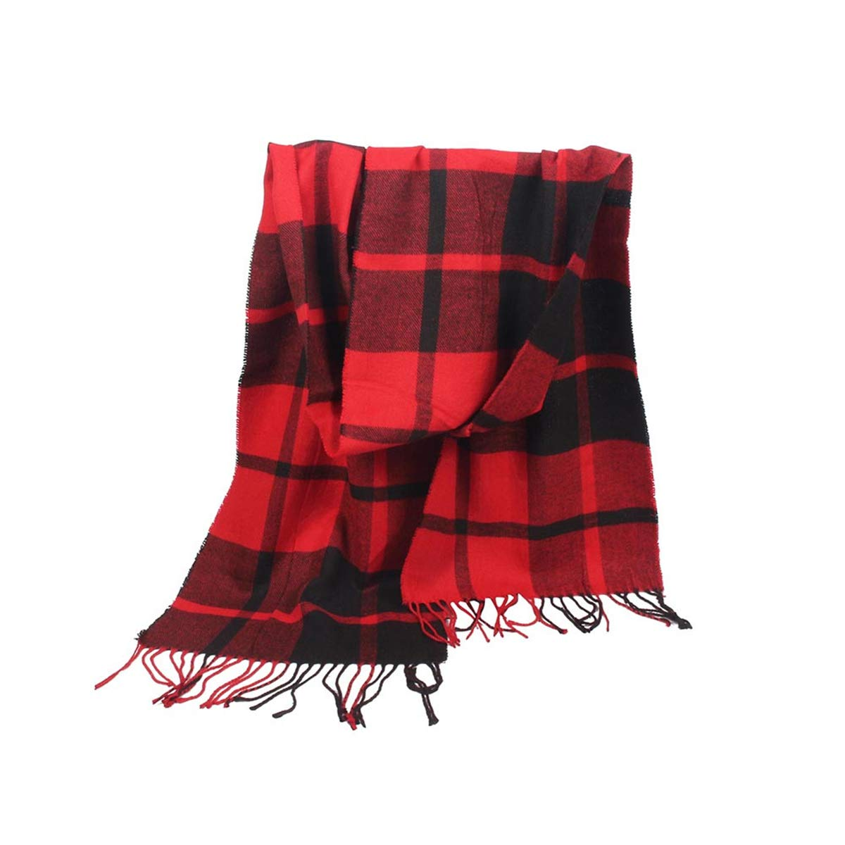Rosennie Women Scarf, Womens Autumn Winter Fashion Warm Soft Tassels Shawl Striped Imitation Cashmere Rectangle Scarf Air Conditioner Shawl