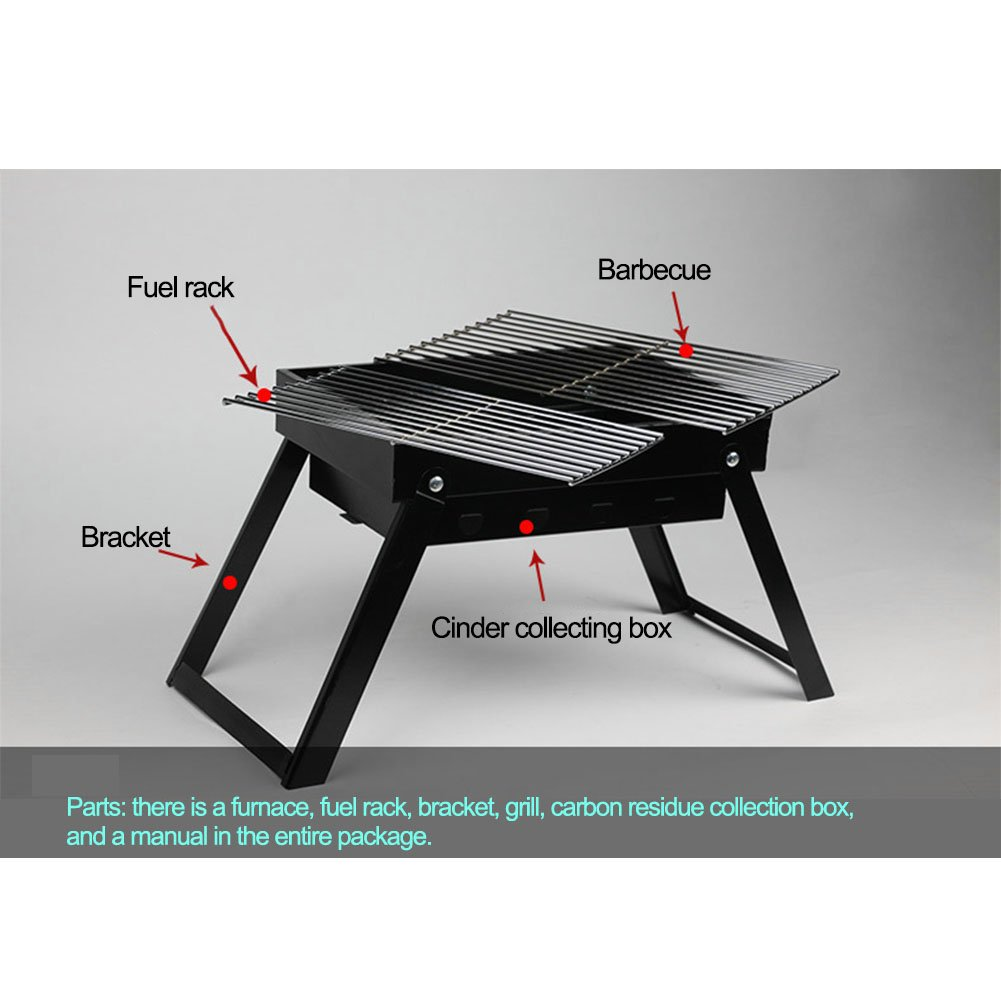 Amyove BBQ Grill Portable Carbon Barbecue Turners Small and Compact Carbon Oven for Camping, Parties, Barbecue etc.
