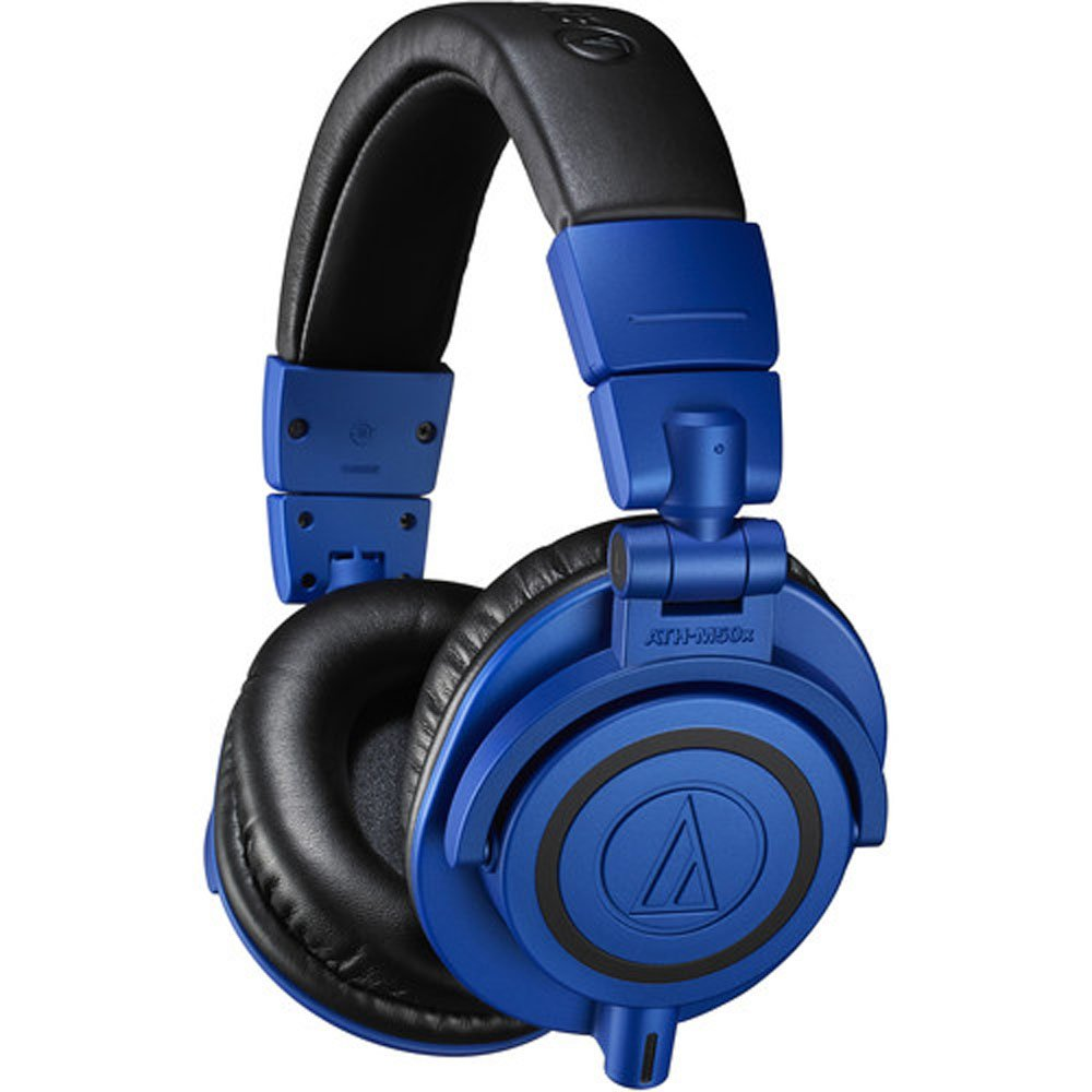 Audio Technica ATH-M50xBB Professional Monitor Headphones, Blue & Black