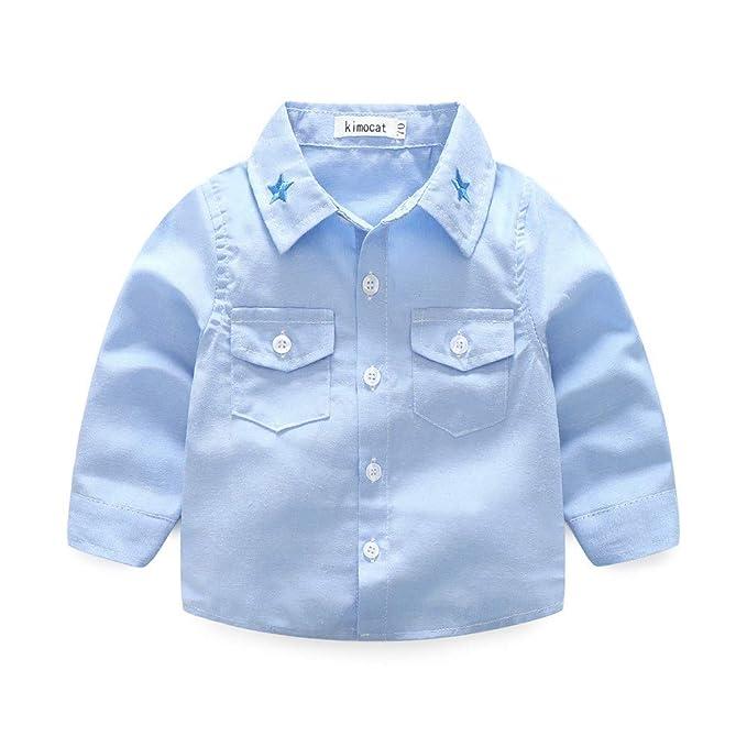 Amlaiworld_ Ropa Bebé Recién Nacido, Camiseta de Tops de Caballero bebé niños Recién Nacidos Camisas y Tirantes Pantalones Conjunto de Trajes: Amazon.es: ...