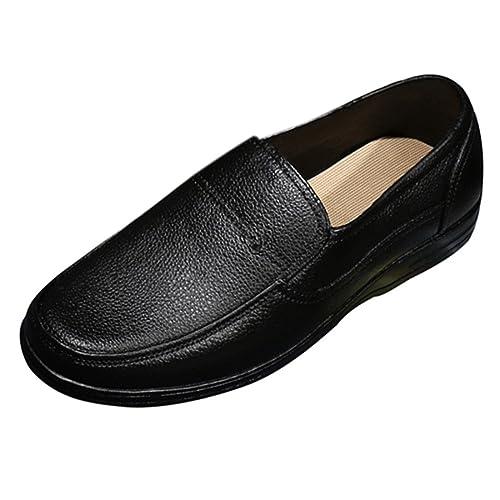 Zhuomei - Mocasines de Poliuretano para Hombre, Color Negro, Talla 38 EU