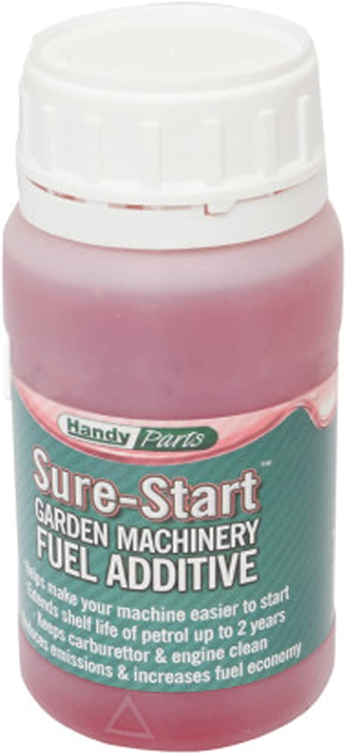 Handy sure-start Fuel aditivo para cortadora de césped y jardín maquinaria (250 ml): Amazon.es: Jardín
