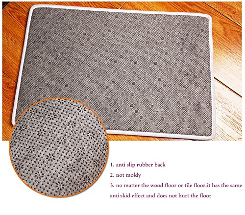 LANGUGU Home Garden Non-Skid / Slip Rubber Back Kitchen Mat Bath Rug Entrance Mat Animal Whale Deer Owl Dinosaur Rabbit Tiger Shark Whale Sloth Machine Washable Indoor Outdoor Hallway Carpet by LANGUGU (Image #3)