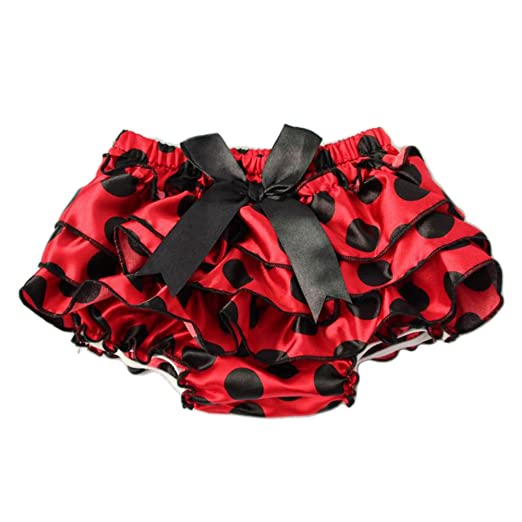 b5ddc2711b Amazon.com  Freedi Baby Girls Ruffle Bloomers Diaper Cover Pants Cute Bow  Skirts Toddlers Red  Clothing
