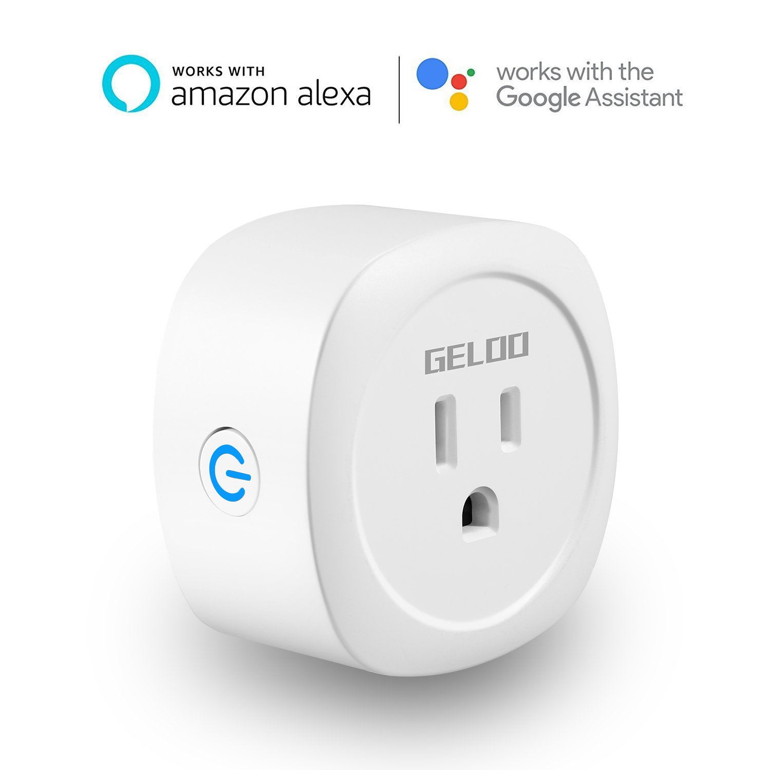 GELOO WiFi Smart Plug Mini Outlet, Alexa Plug Smart Socket with Energy Monitoring, Control your Devices from Anywhere, No Hub Required, Works with Alexa, Google Home and IFTTT