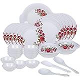 Vama Melamine Dinner Set, 32 Pcs, White (DU24)