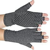 Pevor Arthritis Compression Gloves Relieve Pain Cotton & Spandex Arthritis Rehabilitation Bumps Training Nursing Grip Gloves S Gray