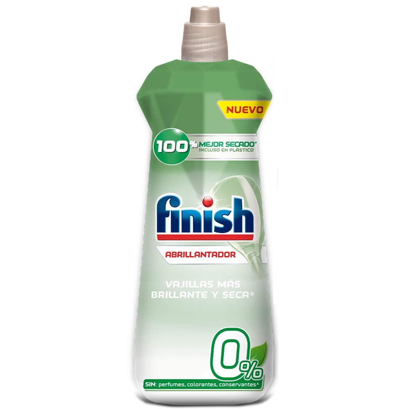 Finish 0% Abrillantador para lavavajillas - formato 400 ml - 100 lavados