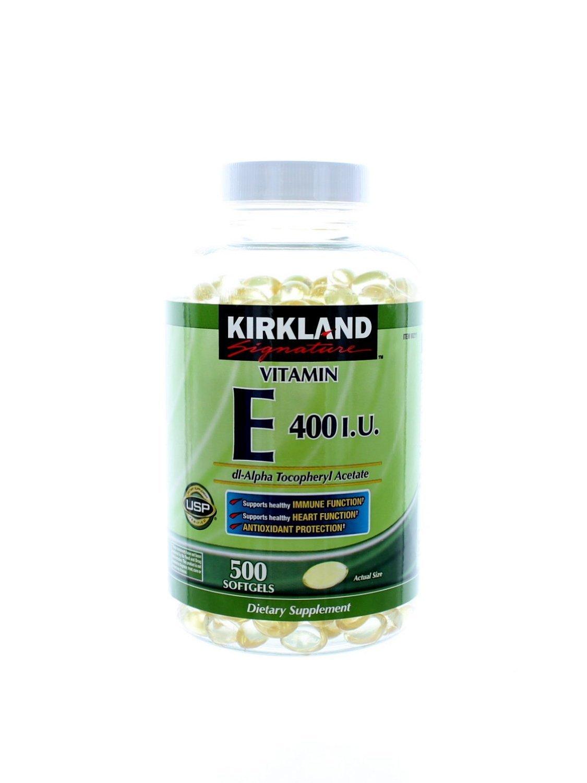 Kirkland Signature Vitamin E 400 I.U., 2000 Soft Gels