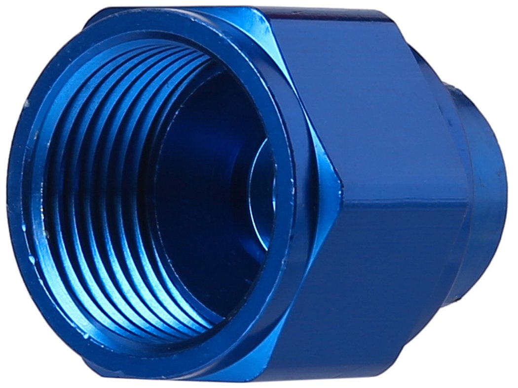 Edelbrock//Russell 661990 Blue Anodized Aluminum 12AN Flare Cap Fitting RUS-661990