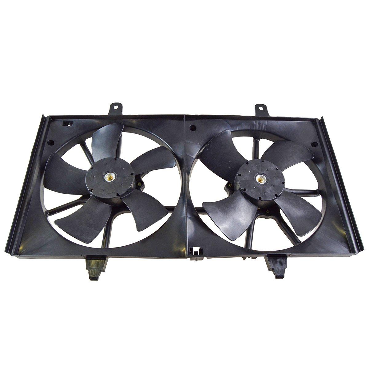 Dual Radiator Cooling Fan w/Motor for 02-06 Nissan Altima 2.5L TRQ
