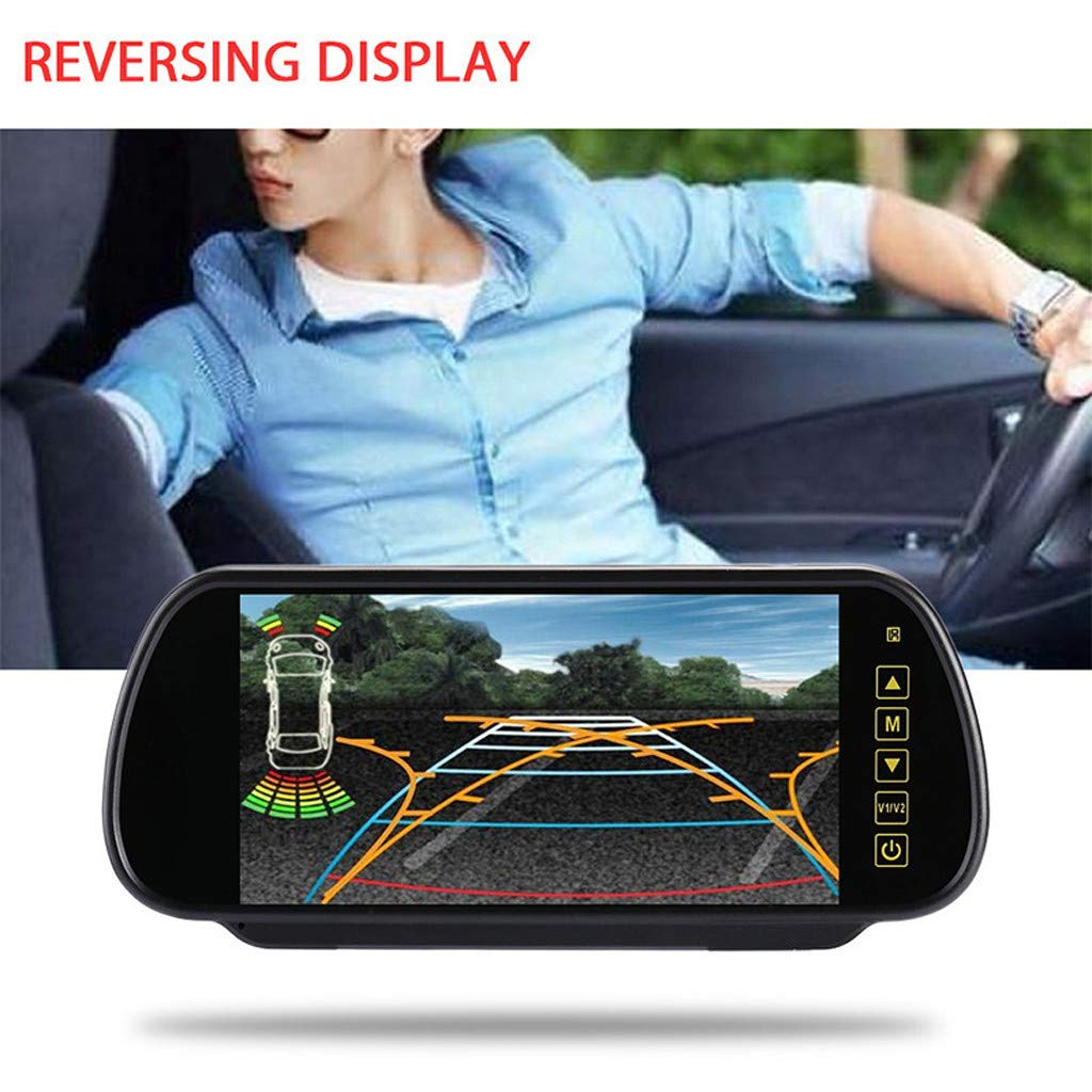Sonmer 7.0'' LCD Rearview Mirror HD MP5 Display Camera,120° Wide View,Support Night Vision,With 2.4Ghz Wireless Car Reverse Rear View Backup Camera by Sonmer_Car Kit (Image #2)