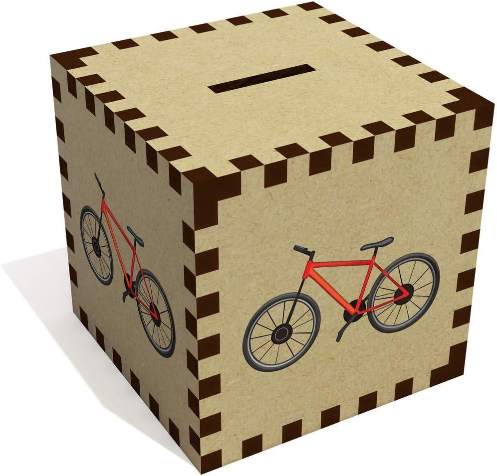 Azeeda Bicicleta Roja Caja de Dinero / Hucha (MB00073159 ...