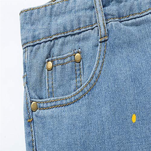 Pantalone Slim Denim Strappati Scala Topgrowth Casual Denudati Hip Stampare Biker Fit Azzurro Uomo Jeans Da Hop Vintage Pantaloni Lavoro RqTwpF