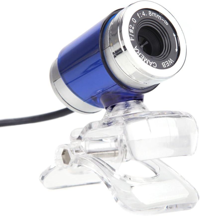Docooler Webcam USB 2.0 50 m/égapixels Cam HD avec Micro Clip sur 360 degr/és pour Le Bureau Skype Ordinateur PC Portable