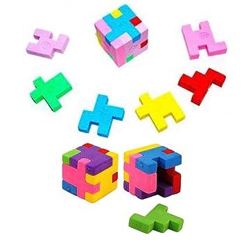 Radiergummis Musikgeräte Puzzle Radierer Musikgeräte-Puzzle Schule im 4er Set