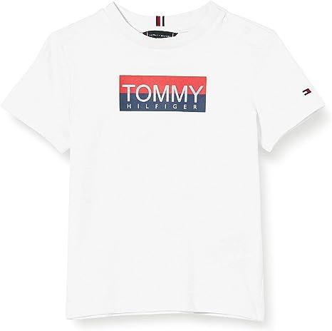 Tommy Hilfiger Reflective Hilfiger tee S/S Camiseta para Niños: Amazon.es: Ropa y accesorios