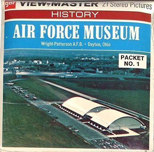 Air Force Museum - Wright Patterson AFB Dayton Ohio 3d View-Master 3 Reel Packet
