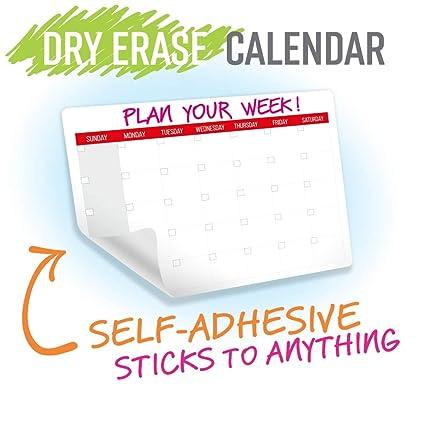 Set de calendario mensual de borrado en seco, autoadhesivo ...