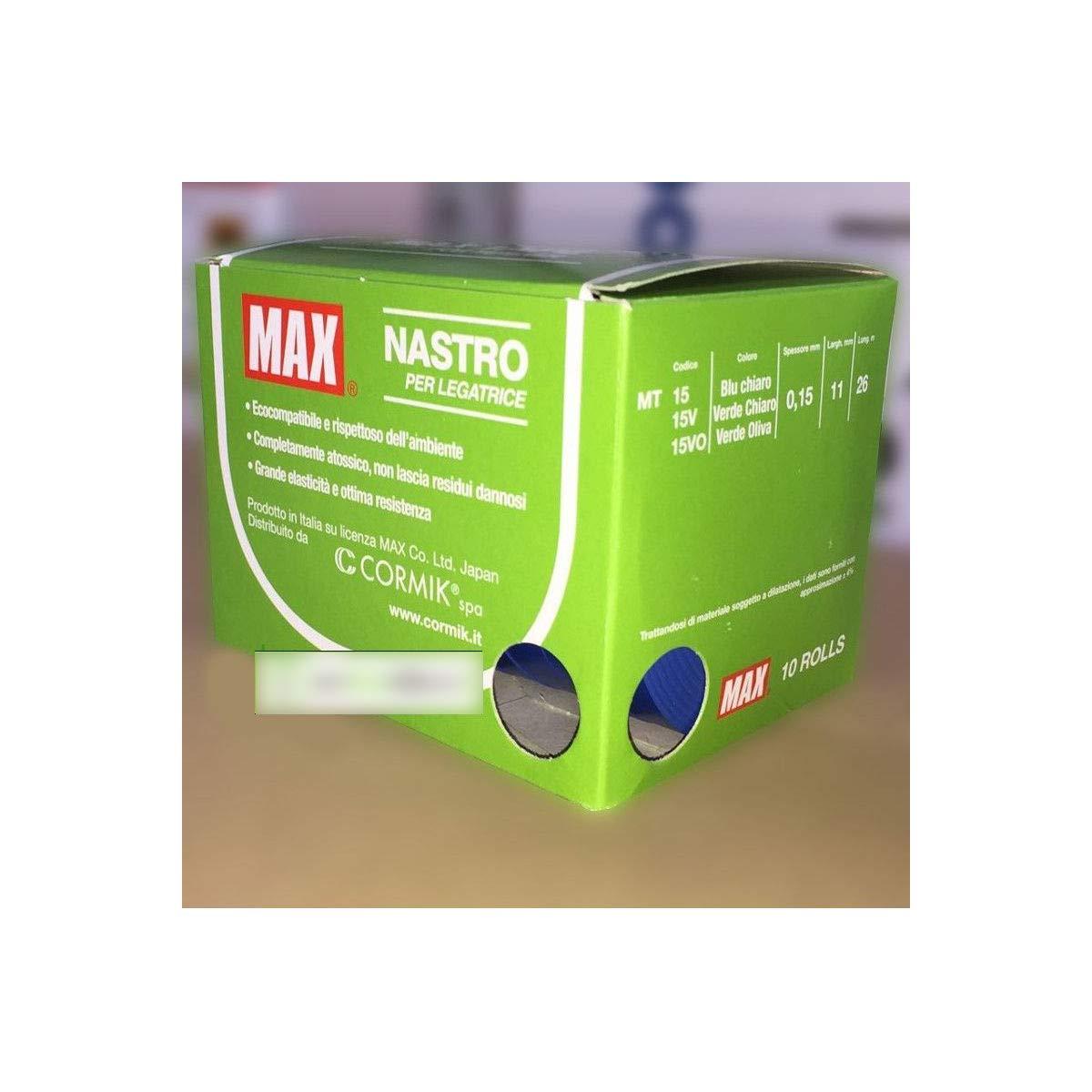 Max Nastro per legatrice TAPENER E Stocktape Colore Blu da 26 mt 10 Rotoli
