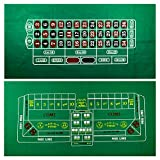 YH Poker Roulette and Craps 2-Sided Casino Table Felt Layout