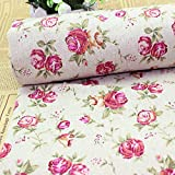 Cotton Rose Printed Fabric Handcraft DIY Sewing Cloth