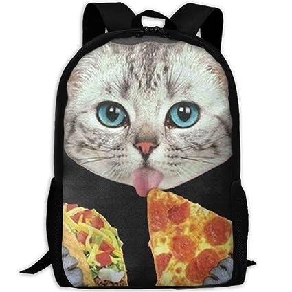 Amazon.com  JJHGNL Space Cat Eating Pizza Interest Laptop Backpack ... 60f97a7ac9c4f