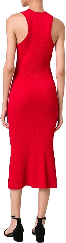 Grey Jason Wu Womens Ribbed Midi Dress Scarlet Medium