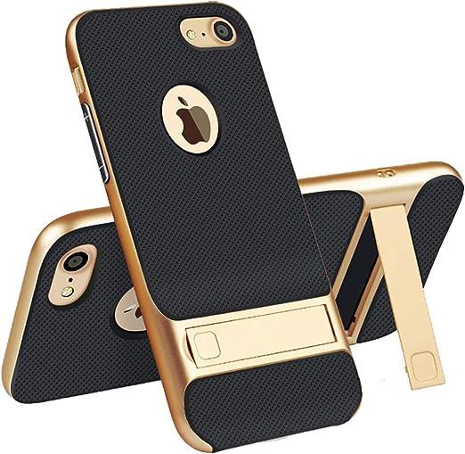 ipone8 Coque de protection pour iPhone 8 avec béquille de luxe IP 8 avec support mat i0hone i8 pour iPhone 8 4,7
