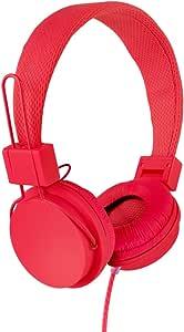 Vivitar VIV-1052-RED Foldable Dj Mixer Headphones, Red